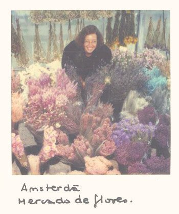 No mercado das flores em Amsterdam