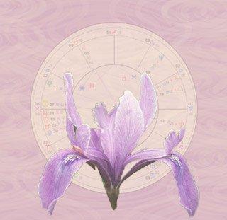 Iris, círculos e mapa astrológico