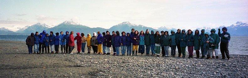 Grupo de Brasileiros no Alaska em 1996